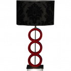 Table Lamp ANA 1xE27 L.42xW.20xH.79cm Red/Black