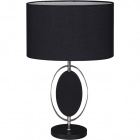 Table Lamp CLAUDIA 1xE27 L.40xW.20xH.67cm Black/Chrome