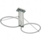 Lámpara de Techo ZAFIRO 2x2GX13 T5 circ. L.63xAn.29,5xAl.32cm Niquel/Cromo