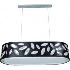 Ceiling Lamp FRISIA oval 4xE27 L.90xW.35xH.Reg.cm Black/White