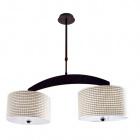 Ceiling Lamp BRAGA 4xE27 L.80xW.30xH.Reg.cm Wengue/Beije