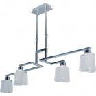 Ceiling Lamp MOLEDO small straight 4xGU10 L.85xW.18xH.Reg.cm Chrome