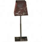 Table Lamp DINAMARCA 1xE14 L.14xW.14xH.39,5cm Satin Nickel/Bordeaux