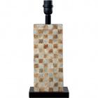 Base para candeeiro de mesa ALBUFEIRA 1xE27 C.16xL.12xAlt.40cm Madrepérola/Castanho
