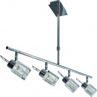 Lámpara de Techo COLORADO 4xG9 L.73xAn.15xAl.Reg.cm Cromo
