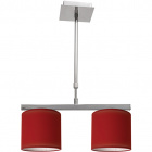 Ceiling Lamp CAMELOT 2xE14 L.43xW.16xH.Reg.cm Red/Chrome