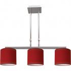 Lámpara de Techo CAMELOT 3xE14 L.68xAn.16xAl.Reg.cm Rojo/Cromo