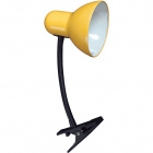 Table Lamp CLIP with spring 1xE27 L.11,5xW.24xH.27cm Yellow