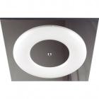 Plafond PIRITA square 1x2GX13 T5 circ. L.40,5xW.40,5xH.5cm White/Chrome