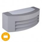 Aplique MISSISSIPI IP44 1xE27 L.29xAn.12,5xAl.10cm Aluminio + Policarbonato (PC) Gris
