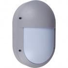 Aplique PARANA grande IP54 1xE27 L.18,5xAn.9xAl.28cm Aluminio + Policarbonato (PC) Gris