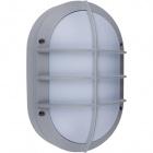Aplique TIGRE grande IP54 1xE27 L.18,5xAn.10xAl.28cm Aluminio + Policarbonato (PC) Gris/Blanco