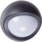 Aplique EUFRATES IP44 1xE27 An.12xD.19cm Aluminio + Policarbonato (PC) Negro