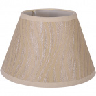 Lampshade HELVIA round & conic flat with fitting E27 H.15xD.25cm Beije