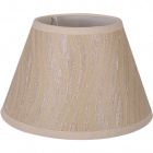 Lampshade HELVIA round & conic flat with fitting E27 H.24xD.40cm Beije