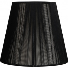 Lampshade INDIRA round & conic in threads with fitting E27 H.14xD.25cm Black