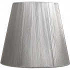 Lampshade INDIRA round & conic in threads with fitting E27 H.24xD.40cm Silver
