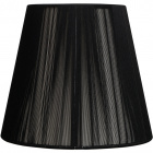 Lampshade INDIRA round & conic in threads with fitting E27 H.27xD.45cm Black