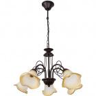 Ceiling Lamp MARSELLA 5xE14 H.Reg.xD.60cm Brown