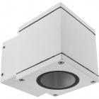 Aplique HOOKE IP54 1xGU10 L.8xAn.11,6xAl.8,5cm Aluminio+Vidrio Blanco