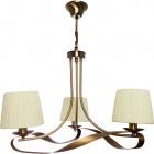Lámpara de Techo CLEVELAND 3xE14 Al.Reg.xD.56cm Cuero/Beije