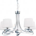 Lámpara de Techo CLEVELAND 5xE27 Al.Reg.xD.60cm Cromo/Blanco