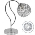 Table Lamp BALBINA 1xE27 L.15xW.27xH.35cm Chrome