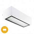 Aplique CORGO IP54 1xE27 L.26xAn.10,6xAl.8cm Aluminio+Vidrio Blanco