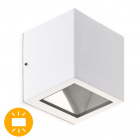Aplique CAVALUM IP54 1xG9 L.9xAn.9xAl.9,5cm Aluminio+Vidrio Blanco