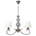 Ceiling Lamp HONDURAS 3xE14+1x5W LED H.Reg.xD.55cm Beije/Antique Brass