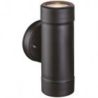 Wall lamp TUELA 2xGU10 max7W IP44 black