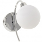 Wall Lamp VITA 1xG9 L.10xW.23xH.20cm chrome with white glass ball