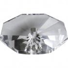 Octógono de cristal 2,5xD.10cm taladro central 12mm transparente