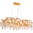 Ceiling Lamp SEVERA 10xG9 L.129xW.55xH.Reg.cm Gold