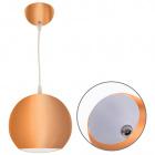 Pendant Light GUIDO 1xE27 H.Reg.xD.19cm Copper