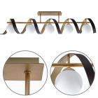 Candeeiro de tecto INARA 5xG9 C.100xL.20xAlt.25cm Dourado