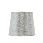 Lampshade NOVA round & conic shiny fabric with fitting E27 H.16xD.20cm Silver