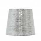Lampshade NOVA round & conic shiny fabric with fitting E27 H.20xD.30cm Silver