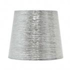 Abat-jour NOVA redondo cónico tela brilhante com encaixe E27 Alt.28xD.40cm Prata