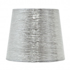 Lampshade NOVA round & conic shiny fabric with fitting E27 H.29,5xD.45cm Silver