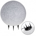 Bolas de Luz con Clavo BONINA IP65 1xE27 Al.46xD.40cm Granito