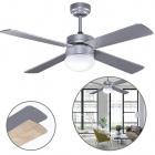 Ceiling Fan TRAMONTANA 4 blades 2xE27 H.40xD.107cm Silver/Beech Wood