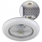 Ceiling Fan RAKI 1x80W LED H.19xD.55cm Silver