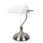 Table Lamp BANCARIO 1xE27 L.27xW.19xH.38cm Antique Brass/White