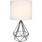 Table Lamp ABRANTES 1xE27 H.56,5xD.32cm Black/White