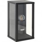 Aplique NOZELO IP44 1xE27 L.14xAn.11,5xAl.26cm Aluminio+Vidrio Antracita