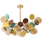 Ceiling Lamp AKIRA 13xG9 H.62xD.93cm Gold/White