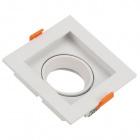 Frame for Downlight HECATE square 1xGU10/GU5.3 (MR16)L.10,2xW.10,2xH.3,6cm Polycarbonate (PC) White
