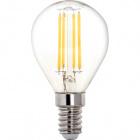 Light Bulb E14 (thin) Ball CLASSIC LED 4W 4000K 470lm Transparent-A++