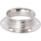 White zinc-plated shade ring for E14 metal lampholder H.11mm D.43mm, in metal